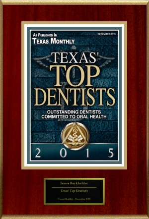Dr. James Burkholder Texas Monthly Top Dentist